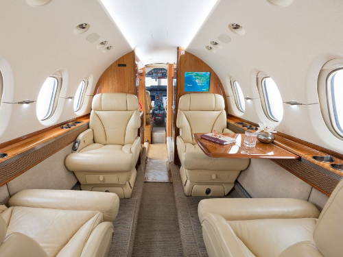 Hawker 850XP Interior