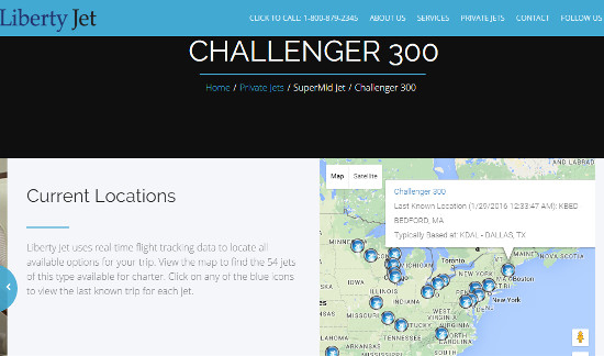 Challenger 300 Locations
