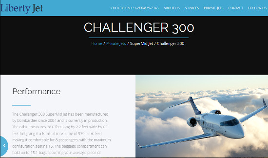 Challenger 300 Performance
