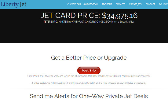 Private Jet Card Price